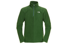 The North Face 100 Glacier sweat Homme 1/4 Zip vert